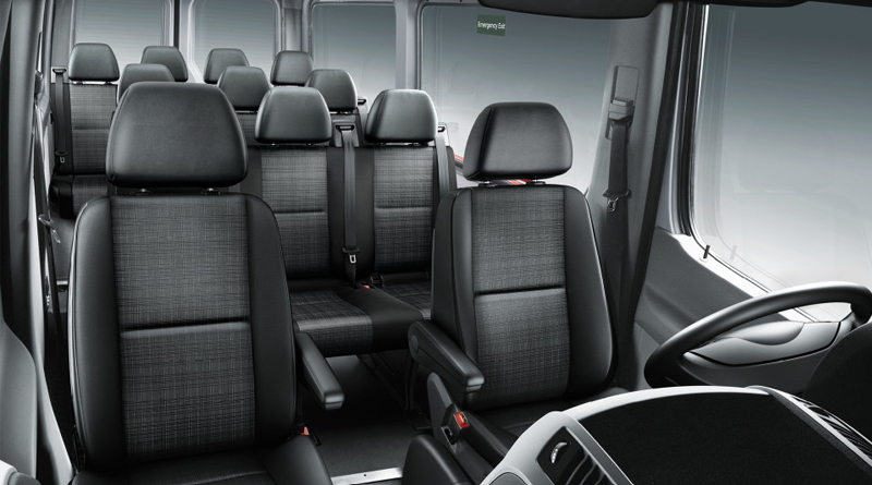 Black Mercedes Sprinter Interior