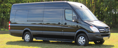Black Mercedes Sprinter